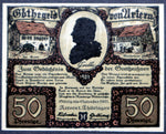 "ARTERN 1921 Error note, double printed! ""Goethe-Geld"" German Notgeld"