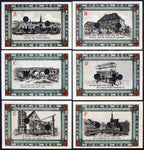 "APOLDA 1921 Complete SPECIMEN set! ""Dog Market/Weaving Loom/Castle"" German Notgeld"