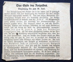 "BERLIN 1921 ""Berliner Tageblatt: The End of Notgeld"" Newspaper Clipping Announcing Expiration"