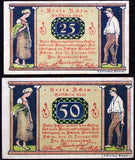 "ACHIM 1921 ""Rural Life"" complete series German Notgeld"
