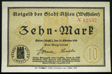 AHLEN 1918 10 Mark Grossnotgeld German Notgeld