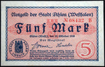 AHLEN 1918 5 Mark Grossnotgeld German Notgeld
