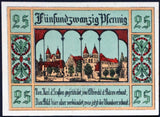 "AKEN 1921 ""Boats on the Elbe River, Beaver"" No Watermark single notes (yellow-green printer line) German Notgeld"
