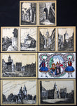 "ALSFELD 1922 ""City Architectural Sketches, Women in Tracht"" complete rare series"