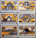 "ALTENWERDER and FINKENWÄRDER 1921 ""Frog King Hamburg"" complete series German Notgeld"
