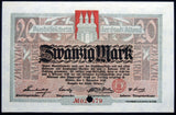 ALTONA 1918 20 Mark Grossnotgeld German Notgeld Hamburg