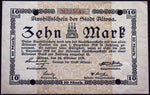 ALTONA 1918 10 Mark Grossnotgeld 28. Okt. date German Notgeld Hamburg