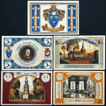 "ALTRAHLSTEDT *XX-RARE* ""Liliencron Society"" NO OVERPRINT!! complete set Notgeld"