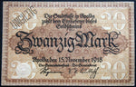 APOLDA 1918 20 Mark Grossnotgeld German Notgeld Banknote