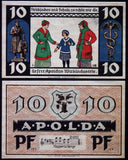 "APOLDA 1921 ""The Hard Money's Been Stolen by the Profiteer"" complete series German Notgeld"