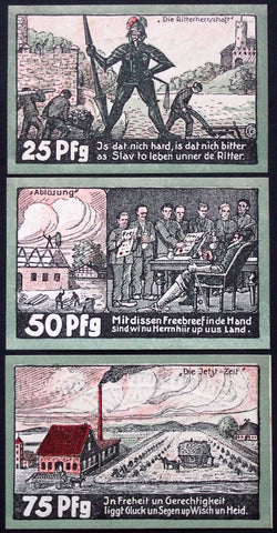 "APPELN et. al. 1921 ""From Slaves of Knights to Free Citizens"" complete series German Notgeld"