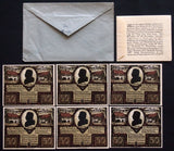 "ARTERN 1921 ""Goethe-Geld"" complete series + rare original AND Robert Ball envelopes! German Notgeld"