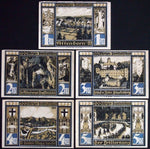 "ATTENDORN 1922 rare signed/dated variants! ""City Views"" complete series Notgeld"