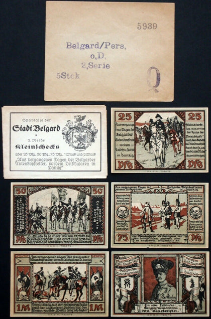 "BELGARD ""Totenkopfreiter, von Mackensen in Danzig"" complete w/Original AND Robert Ball envelopes!"