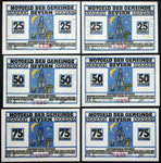 "BEVERN 1921 4x serial no. 420!! ""Gnomes, Mushrooms in the Moonlight"" complete series German Notgeld"