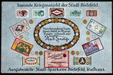 BIELEFELD 1920 *XX-RARE* Notgeld Advertisement Postcard ft. Paper Notes & Coins