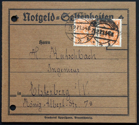 "BRAUNSCHWEIG 1922 ""Notgeld Rarities - E. Appelhans & Comp."" Advertising Booklet"