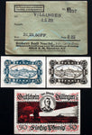 DILLINGEN 1920 complete series w/rare ERROR Robert Ball Envelope! German Notgeld