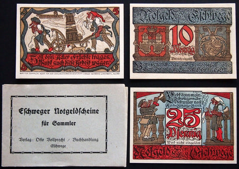 ESCHWEGE 1922 extremely rare complete set w/matching booklet! Notgeld Germany