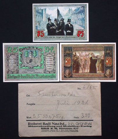 "FINSTERWALDE 1921 ""Singers of Finsterwalde"" + orig. Robert Ball envelope! German"