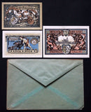 "FREIENWALDE 1921 ""Cherubs"" complete + orig. Robert Ball envelope! German Notgeld"