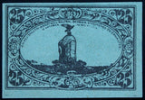 FREIENWALDE 1920 XX-RARE Test Print on blue colored paper! 25 Pf German Notgeld