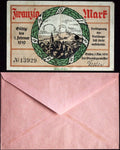 GIESSEN 1918 20 Mark Grossnotgeld in RARE Robert Ball Envelope! German Notgeld