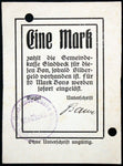 GLADBECK 1914 RAREST Original!! 1 Mark Early WWI German Notgeld