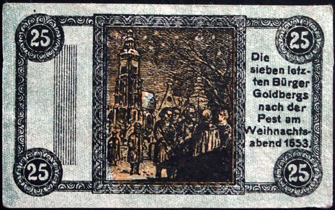 GOLDBERG 1918 UNCATALOGED SPECIMEN no serial! Notgeld Germany today Poland