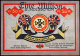 HAMBURG 1923 Only known example w/Inflation Overprint! WWI Disabled Vets XX-RARE complete series German Notgeld
