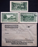 HARZGERODE 1921 3x75 Pf + rare Robert Ball envelope! German Notgeld