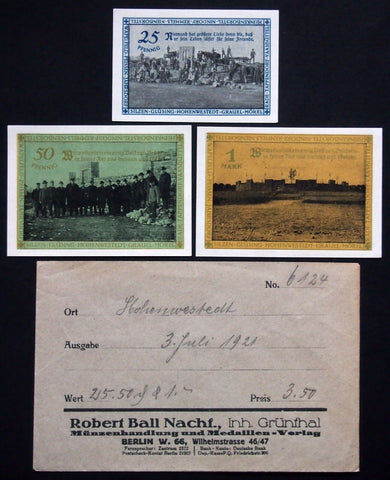 HOHENWESTEDT 1921 complete w/rare 25 Pf + RARE Robert Ball envelope! German