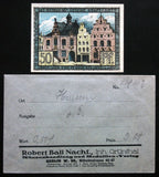 HUSUM 1920 50 Pf + rare Robert Ball envelope! German Notgeld