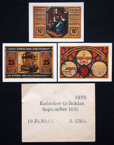 KATSCHER Sept. 1921 rare date complete set + Rare Robert Ball envelope German