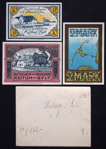 KEITUM on the Island SYLT 1921 complete series + RARE Robert Ball envelope!