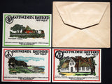 KEITUM 1921 rarer complete series + RARE Robert Ball envelope! Notgeld Germany