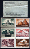 KELBRA 1921 complete set in RARE Robert Ball 1920s dealer envelope! Notgeld