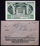 "KITZINGEN 1918 ""Cherubs"" 10 Mark Grossnotgeld + RARE Robert Ball envelope!"