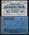 LANDSBERG (Bavaria) 20 Mark Grossnotgeld in RARE Robert Ball envelope! Notgeld