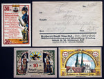 "LEMGO 1921 ""Obey the Magistrate"" complete in Robert Ball envelope! Notgeld"