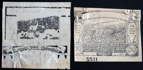Ultra-rare NOTGELD TEST PRINTS from BAD LIEBENSTEIN! Beyond specimen! Germany