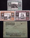 MEPPEN 1921 complete series in RARE 1920s Robert Ball dealer envelope! Notgeld