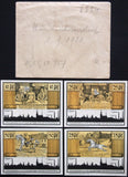 "MÜNCHENBERNSDORF 1921 ""Lawyer's Path"" complete in RARE Robert Ball envelope!"