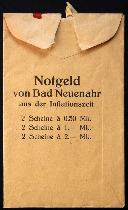 "BAD NEUENAHR XX-RARE ""Kurdirektion"" Original Envelope for Notgeld Series"