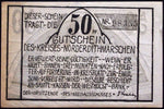 NORDER-DITHMARSCHEN XX-RARE missing red letters!! Germany Notgeld