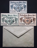 "OBERGLOGAU 1921 ""Oppersdorf Spider"" complete series + RARE Robert Ball envelope!"