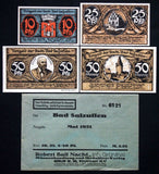 BAD SALZUFLEN 1921 complete series + RARE Robert Ball envelope! Notgeld Germany