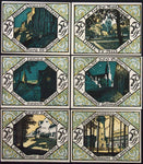 "SCHEIBENBERG 1921 RARE No serials! ""Day and Night"" complete series German Notgeld"