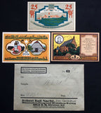 STEINHEIM 1921 complete set in 1920s Robert Ball dealer envelope! German Notgeld