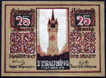 STRAUBING 1918 SPECIMEN 25 Pf Circulating Notgeld Germany